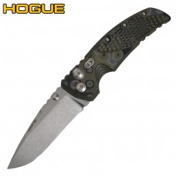 Нож Hogue EX-01 Auto Drop Point Stonewash Green/Grey G-Mascus 34138TF
