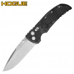 Нож Hogue EX-01 Auto Drop Point Stonewash Black/Grey G-Mascus 34139TF