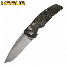 "Нож Hogue EX-01 Drop Point 4"" Stonewash Green/Grey G10 34158TF"