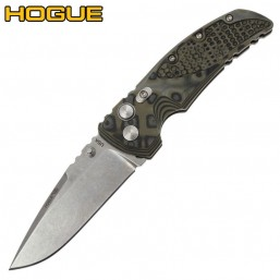 "Нож Hogue EX-01 Drop Point 3.5"" Stonewash Green/Grey G10 34178TF"